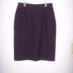 Brooks Brothers 100% Wool Bk Midi Career Skirt  8